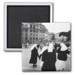 Rome Italy, Nun Patrol! (NR) Fridge Magnets