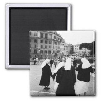 Rome Italy, Nun Patrol! (NR) 2 Inch Square Magnet