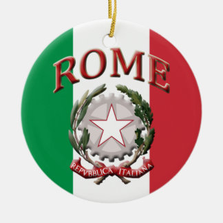 Rome Italy Double-Sided Ceramic Round Christmas Ornament