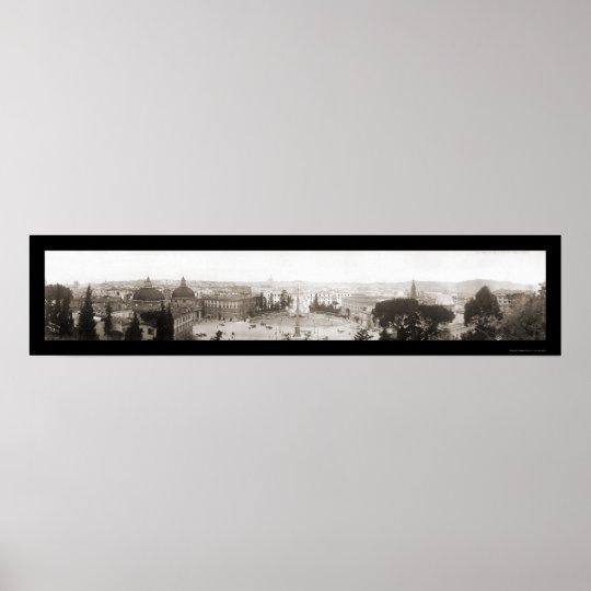 Rome, Italy- Pinchio Photo 1909 Poster