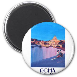 Rome Italy Retro Poster Magnet