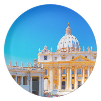 Rome, Italy - St Peters Basilica Dinner Plate