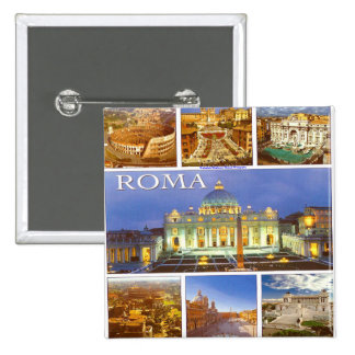 Rome Italy Today 2 Inch Square Button