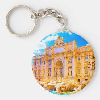 Rome, Italy - Trevi Fountain Basic Round Button Keychain
