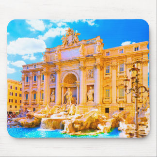 Rome, Italy - Trevi Fountain Mouse Pad