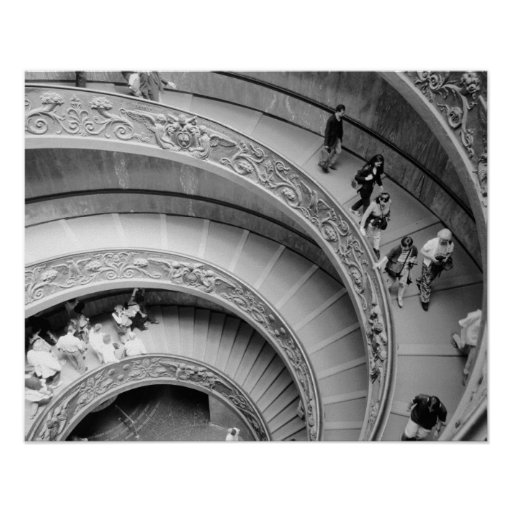Rome Italy, Vatican Staircase 2 Posters