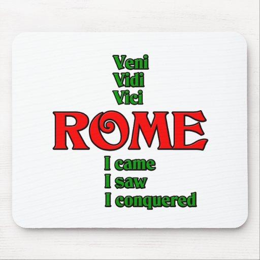 Rome Italy Veni Vidi Vici Mousepad