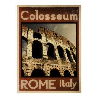 rome italy vintage poster