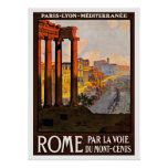 Rome Italy Vintage Travel Posters