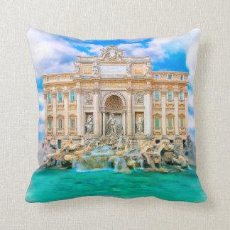 Rome - La Dolce Vita - Trevi Fountain Throw Pillows