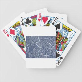 Rome Map Blue Bicycle Playing Cards