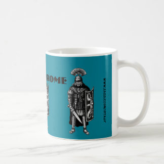 Rome mug with Roman centurion ink pen drawing art