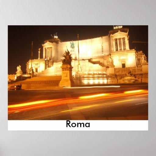 Rome night, Roma Poster