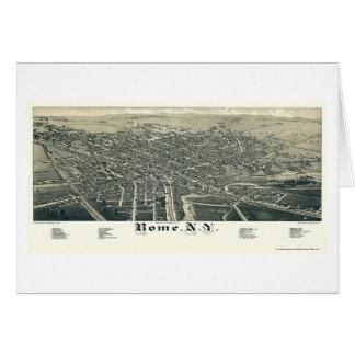 Rome, NY Panoramic Map - 1886 Card