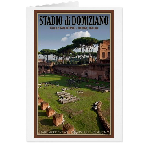 Rome - Palace of Domitian - The Stadium Greeting Card