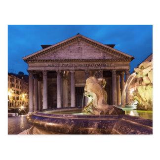 Rome - Pantheon at night postcard