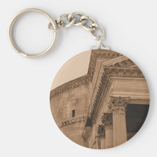 Rome Pantheon Photo Basic Round Button Keychain