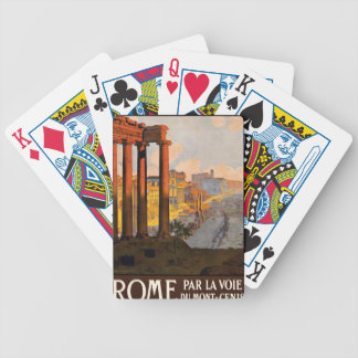 Rome par la voie du Mont-Cenis Bicycle Playing Cards