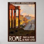 Rome par la voie du Mont-Cenis Posters