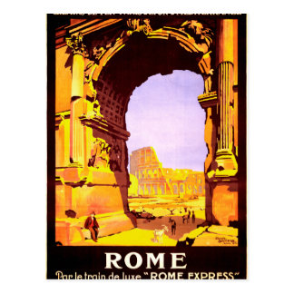 """Rome, par le train de luxe """"Rome Express"""" Postcard"""