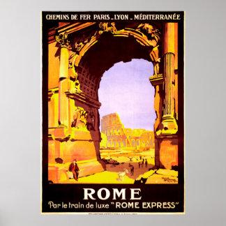 """Rome, par le train de luxe """"Rome Express"""" Poster"""