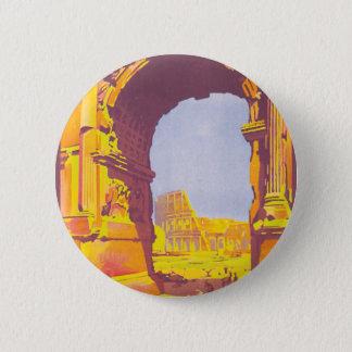 Rome par le train deluxe pinback button