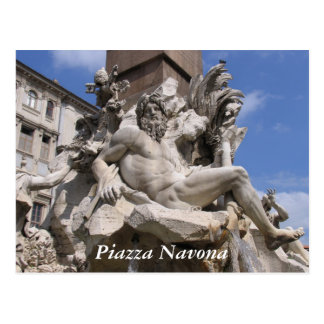 Rome, Piazza Navona Postcard