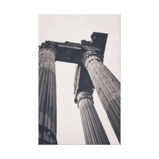 Rome pillars stretched canvas print