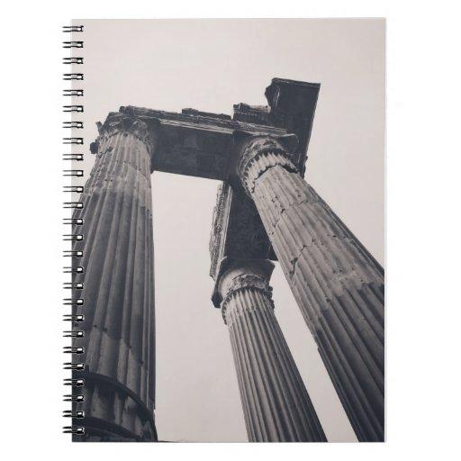 Rome pillars note books