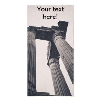 Rome pillars customized photo card