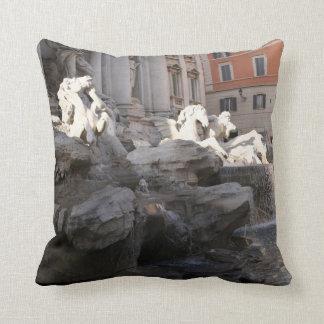 Rome Pillow Coliseum Trevi Fountain