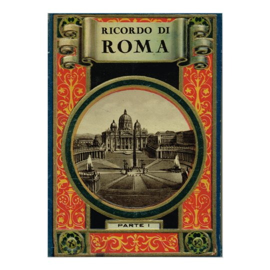Rome, Pizza S. Pietro Poster