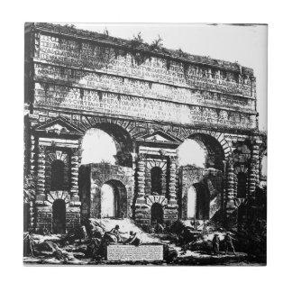 Rome. Porta Maggiore. Giovanni Battista Piranesi Ceramic Tile