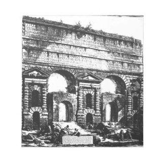 Rome. Porta Maggiore. Giovanni Battista Piranesi Notepad