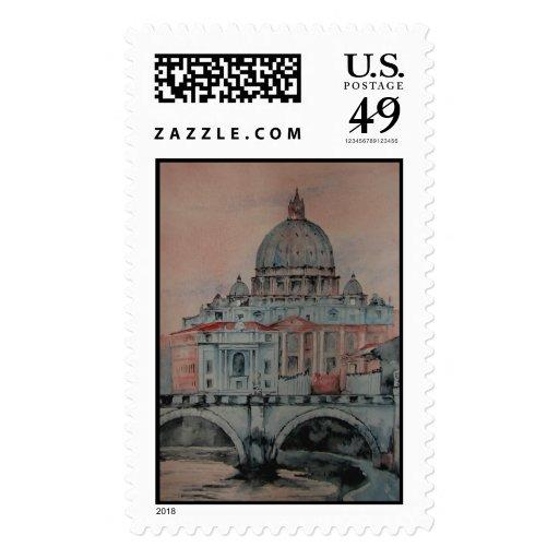 rome postage stamp