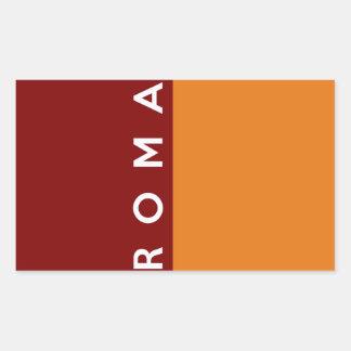 rome roma city flag italy country text name rectangular sticker
