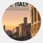 Rome - Roman Forum Sunset Classic Round Sticker