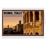 Rome - Roman Forum Sunset Greeting Card