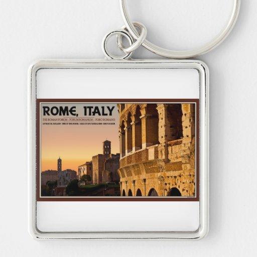 Rome - Roman Forum Sunset Key Chain