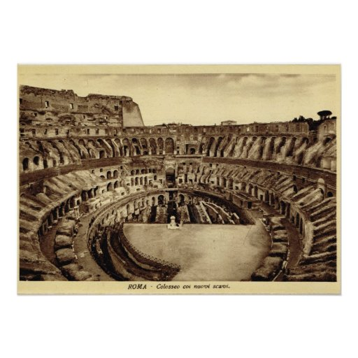 Rome, Ruins of the Colosseum Poster