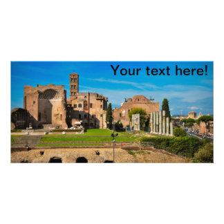 Rome ruins customized photo card