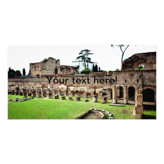 Rome ruins photo card template