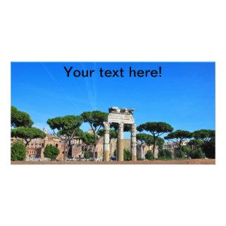 Rome ruins photo card