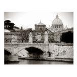 rome, san peter square postcard