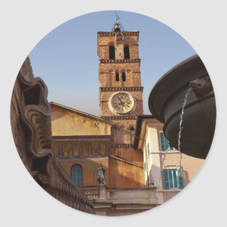 Rome - Santa Maria in Trastevere Classic Round Sticker