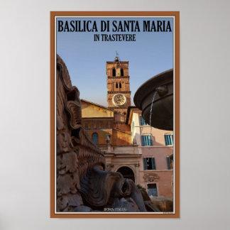 Rome - Santa Maria in Trastevere Poster