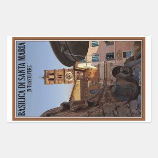 Rome - Santa Maria in Trastevere Rectangular Sticker