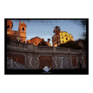 ROME SPANISH STEPS POSTERS