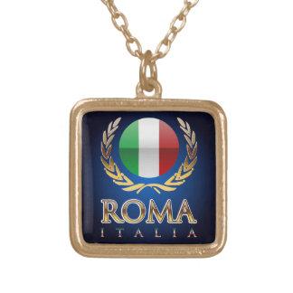 Rome Square Pendant Necklace