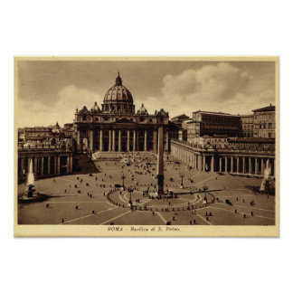 Rome, St Peter's Square, vatican Poster